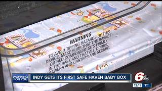 First central Indiana Safe Haven Baby Box to be installed this month - Video