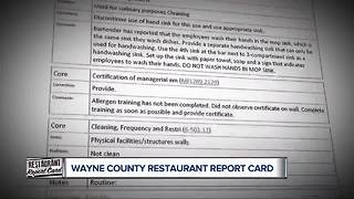 Inspector report cards detail issues at Wayne County restaurants - Video