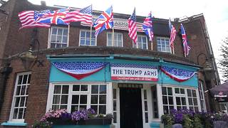 London pub rebrands itself as 'Trump Arms' before presidential visit - Video