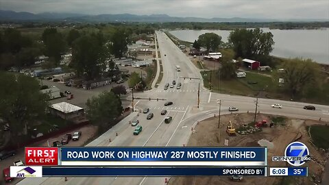 Road work on Highway 287 mostly finished