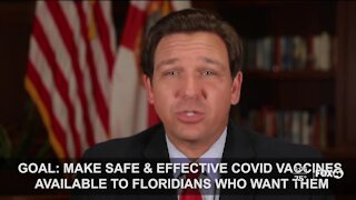 DeSantis speaks about vaccine distribution in Florida
