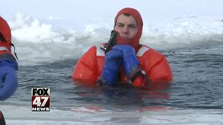 Firefighters Train For Ice Rescues - Video