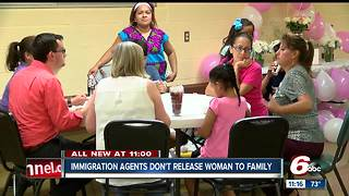 Immigration agents won't release woman to family - Video