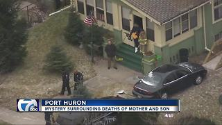 Mother and son found dead in their Port Huron home, police investigating - Video
