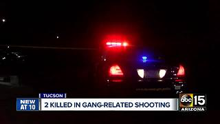 Two people killed in gang-related shooting in Tucson - Video