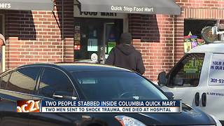 Man killed in double stabbing after fight in Columbia convenience store - Video