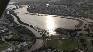 Aerial Footage Shows Flooding Over East Gippsland - Video