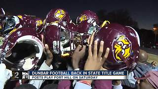 Dunbar football back in the state title game - Video