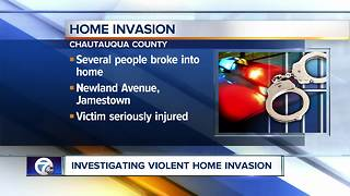 Violent home invasion in Chautauqua County - Video