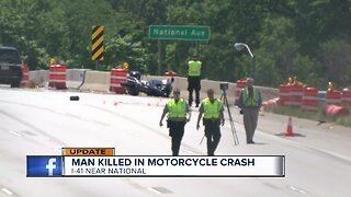 Motorcyclist killed in crash on I-41