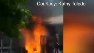 Families return to apartment after explosion - Video