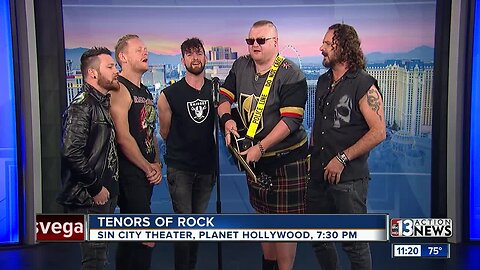 Tenors of Rock in the 13 Action News studio