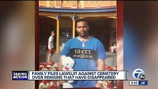 Family files lawsuit against cemetery over remains that have disappeared