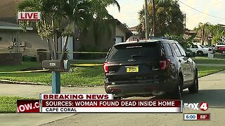 Woman found dead inside Cape Coral home