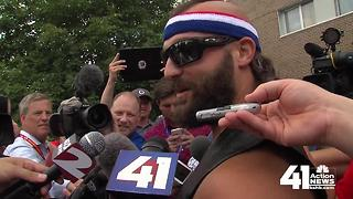 Anthony Sherman makes an entrance at training camp - Video