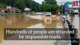 It is crazy that water could do this during the West Virginia flooding - Video