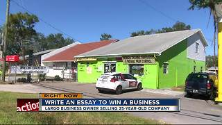 Largo business owner uses essay contest to give away shop - Video