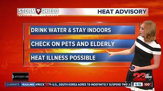 Heat advisory continues in valley through Sunday - Video
