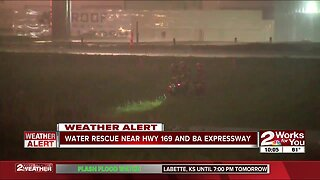 Water rescue near Highway 169, BA Expressway