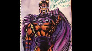 Painting Magneto with Watercolors