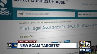DACA recipients may be next target of scammers - Video