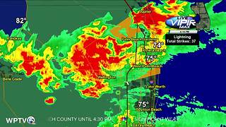 Severe thunderstorm warning - Video