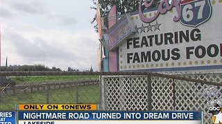 Nightmare road turned into dream drive - Video