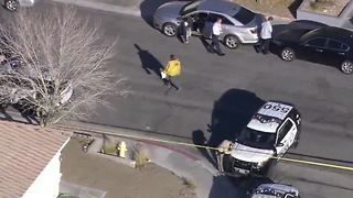 Man in serious condition after shot by Las Vegas police officer - Video