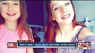 Teen's family talks about recovery after crash