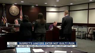 Attorney of accused Seminole Heights killer enters not guilty plea on suspect's behalf - Video
