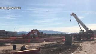 Raiders set up live webcam to follow Las Vegas Stadium construction - Video