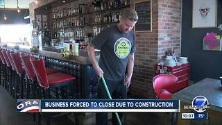 RiNo growth and construction forcing small business to close doors to patrons - Video
