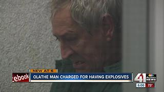 Olathe man charged with having explosives - Video