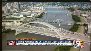 Brand new price tag on fixing the Brent Spence Bridge