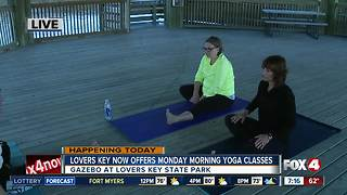Lovers Key now offers Monday morning yoga classes - 7am live report - Video