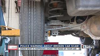 Police warning women about car trouble scam