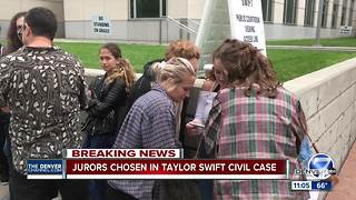 Jurors chosen in civil suit surrounding Taylor Swift: Attorneys make opening statements - Video