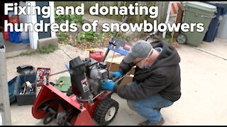 Kind Milwaukee neighbor has fixed and donated hundreds of snowblowers
