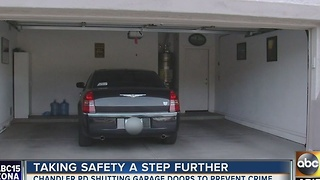 Chandler PD being praised for closing residents' garage doors - Video