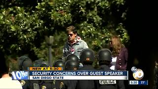 Security concerns over SDSU guest speaker Milo Yiannopoulos - Video