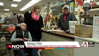 Family sells salvaged items to help others in need - Video