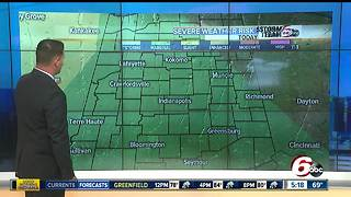 Isolated storms possible across central Indiana today - Video