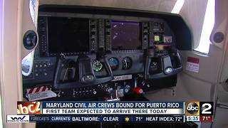 Maryland Civil Air crews bound for Puerto Rico - Video