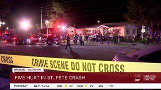 5 injured in St. Pete crash, police say