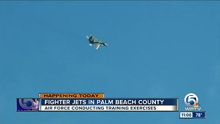 F-15 spotted over Boca Raton during Wednesday military training over South Florida
