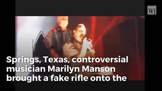 Rocker Marilyn Manson Points Fake Rifle at Concertgoers in Middle of San Bernardino Show - Video