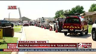 Multiple injuries reported in west Tulsa explosion