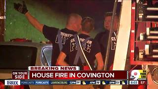 Covington home damaged by fire in crawl space - Video
