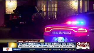 Owasso man dies after crashing into home