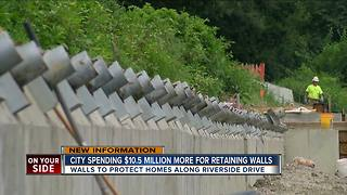 Additional Riverside Drive retaining walls will cost city $10.5 million to save slipping East End - Video
